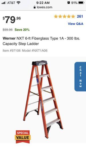 Werner 6ft ladder. for Sale in Fremont, CA