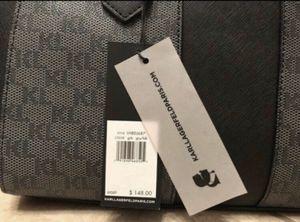 Karl Lagerfeld Black & gray bag purse KL logo monogram for Sale in Phoenix, AZ