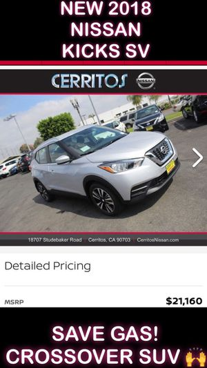 NEW 2018 NISSAN KICKS SV CROSSOVER SUV for Sale in Downey, CA