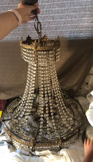 Antique crystal chandelier needs some love for Sale in West Covina, CA