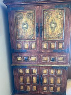 Hand Painted Armoire/storage piece for Sale in Rancho Santa Fe,  CA
