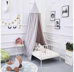 Brand New Princess Bed Canopy for Kids Baby Bed, Round Dome Kids Indoor Outdoor Castle Play Tent Hanging House Decoration Reading Nook Cotton Canvas P for Sale in Sparks Glencoe,  MD