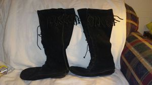 Black moccasins boots for Sale in Moultrie, GA