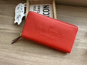 Kate Spade Logo Zip wallet Red for Sale in Katy, TX