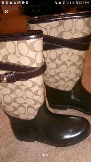 Coach rain boots for Sale in Las Vegas, NV