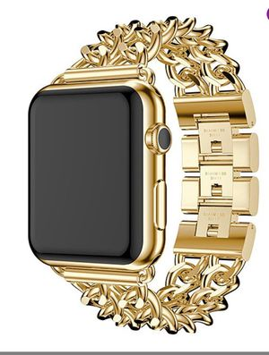 Gold Metallic Apple Watch band and case for Sale in Clovis, CA