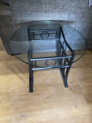 Side Tables Black with Glass Tops for Sale in Sacramento, CA