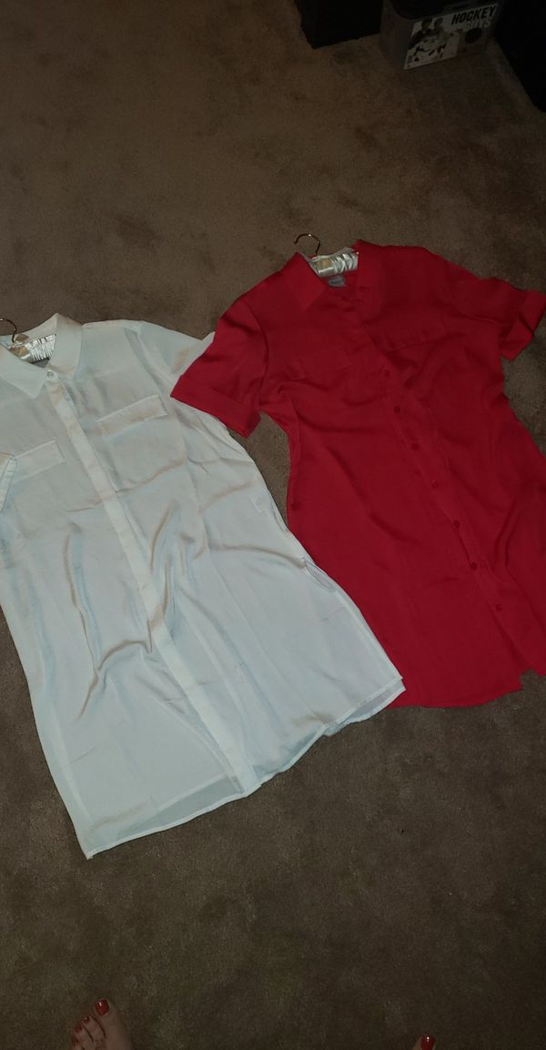 2 NWT CHICOS TUNIC SHIRTS $30/each or 2 for $50 Both size 1 Regular