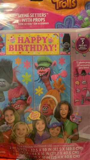 Trolls party photo scene for Sale in Philadelphia, PA