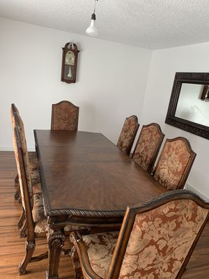 Dinning table set 8 chairs and mirror for Sale in Lincoln, NE