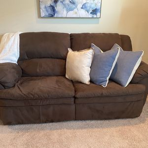 Must Sell! Brown Microfiber Loveseat Couch for Sale in Thompson's Station, TN