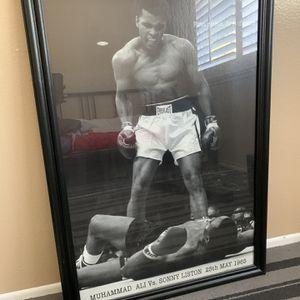 Muhammad Ali VS. Sonny Liston Frame for Sale in Pomona, CA
