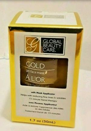 Global Beauty Care gold gel face mask with applicator for Sale in Las Vegas, NV