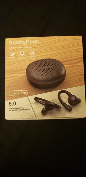 Wireless bluetooth headphones + charging case for Sale in Washington, DC