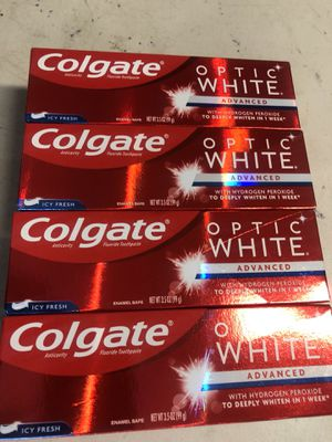 Colgate optic white toothpaste for Sale in Riverside, CA