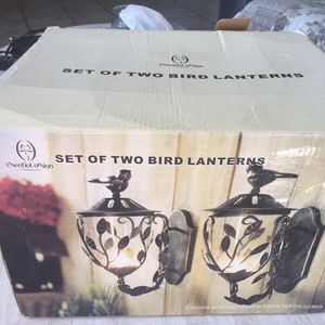 Two Bird Lantern Set Decor for Sale in El Cerrito, CA