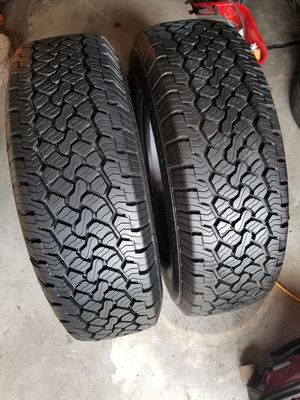 2 tires BFGoodrich LT245/75R17 good conditions $200 for Sale in Colton, CA