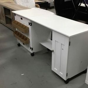 Sewing And Craft Table Sof White Finish for Sale in Houston, TX