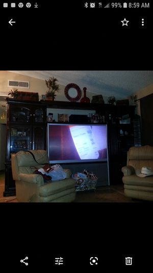 Entertainment center brown for Sale in Las Vegas, NV
