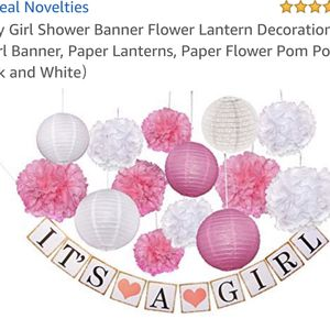 Baby Girl Shower Banner and Decorations for Sale in Las Vegas, NV