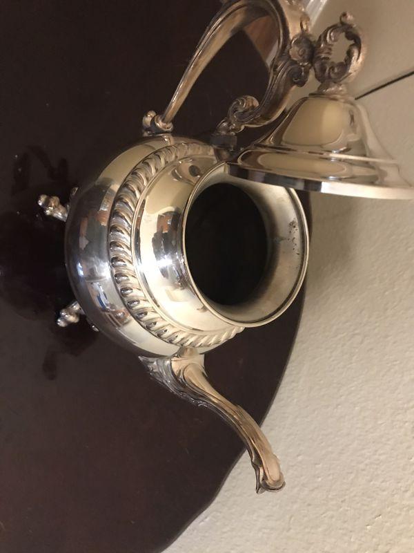 Sheridan silver on copper tea pot