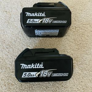 Makita 18V LXT 5.0 Ah High Capacity Battery With LED Charge Level Indicator (2-pack) for Sale in Crofton, MD