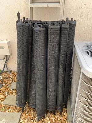 110 ft black pool fence with swinging locking gate for Sale in Davie, FL