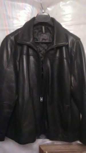 Calvin Klein /mens black leather jacket over $300 on Amazon for Sale in Chantilly, VA