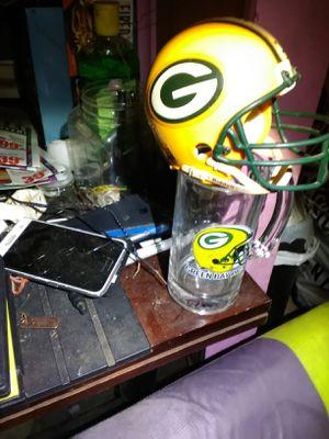 Green Bay Packers beer mug and lil helmet for Sale in Ada, OK