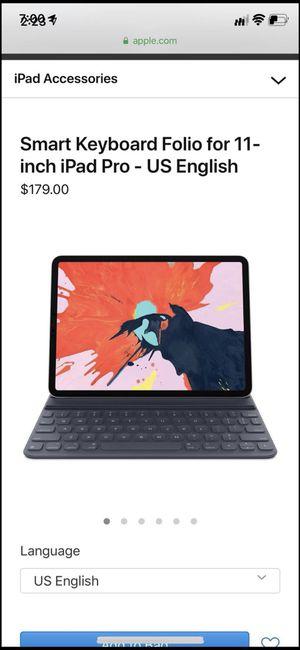 iPad Pro Smart Keyboard Folio 11 Inch - New In box for Sale in San Marino, CA