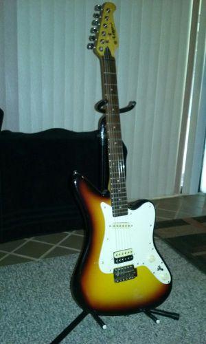 Vintage Lotus Jaguar 3 toned sunburst electric guitar Musical instrument for Sale in Spring Hill, FL