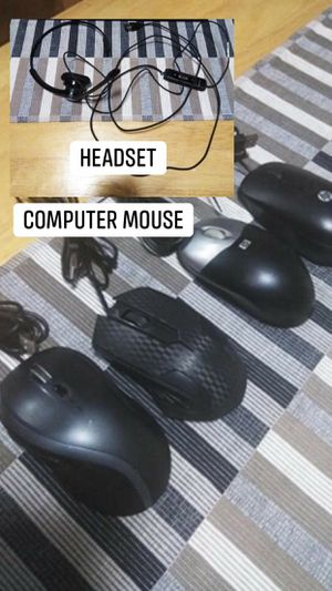 Computer headset and mouse for Sale in Lakeside, CA