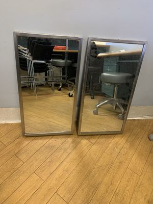 Slanted Wall Mirrors - Set of 2 for Sale in Pompano Beach, FL