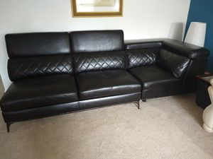 Black Leather Couch for Sale in Delray Beach, FL