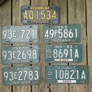 (1)1962 (5)1965 (1)trailer plates $15 apiece or $70 for all for Sale in Indianapolis, IN