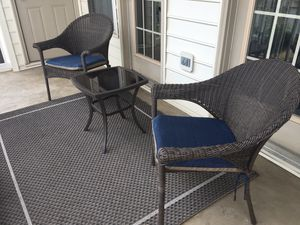 Barely used Patio Furniture (including rug) for Sale in Warrenton, VA