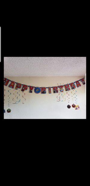 Thomas&friends customizable happy birthday banner&decoration accessories/Cartel personalizable para cumpleaño y accessorios de Thomas el tren for Sale in Miami, FL