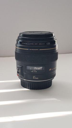 Canon 85mm f1.8 Ultrasonic for Sale in Etiwanda, CA