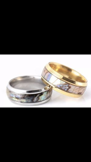 Mens & Woman's Stunning Abalone Seashell Luxury Comfort Fit ClassyBand, Wedding Band for Sale in Peoria, AZ