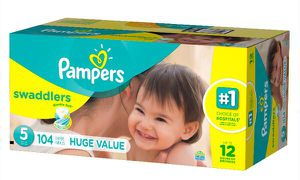 Pampers Swaddlers Diapers | Size 5 | 104 count for Sale in Boston, MA