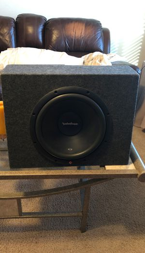 12 inch Subwoofer w/ Boss R1100m amp for Sale in Tempe, AZ