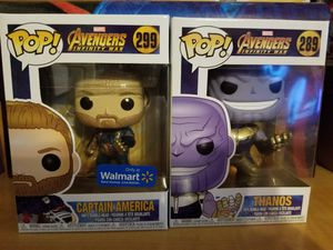 Captain America and Thanos Funko set for Sale in Woodlake, CA