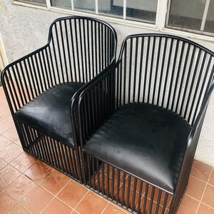Black Leather Patio Chairs for Sale in Los Angeles, CA