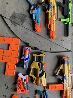 NERF Gun/ Air-Soft Gun/ Bow Set for Sale in Tigard,  OR