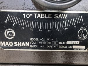 10inch table saw for Sale in Las Vegas, NV