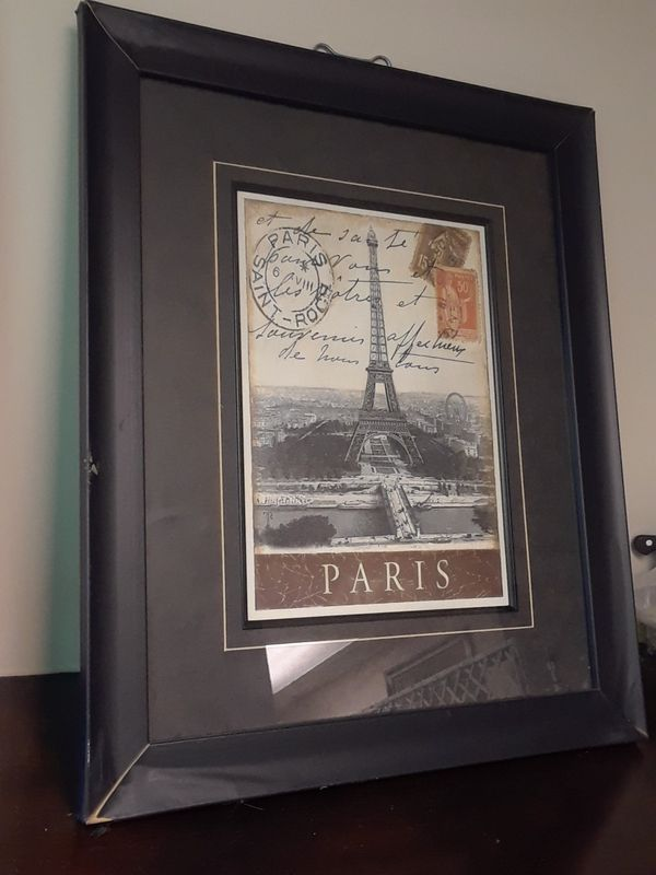 """Two 23"""" x 19"""" European style framed art peices"""