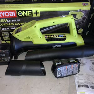 RYOBI ONE+ 90 MPH 200 CFM 18-Volt Lithium-Ion Cordless Leaf Blower/Sweeper - 2.0 Ah Battery and Charger Included for Sale in Anaheim, CA