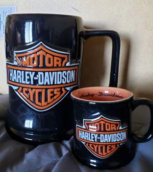 Harley Bar & Shield Mega mug & matching Mug shot for Sale in Glendale Heights, IL
