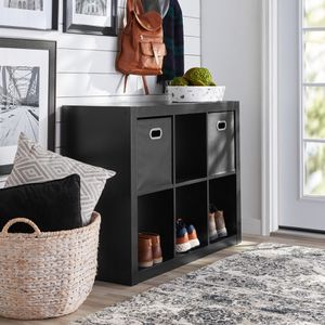 """Better Homes & Gardens 6-Cube Storage Organizer, Black DESCRIPTION: Sleek, open back design for easy cord management Features 6 fixed 13"""" x 13"""" x 15"""" for Sale in Sugar Land, TX"""