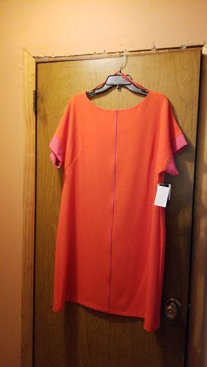 Orange dress with pink stripe by J. Taylor size XL/ $40 OBO. for Sale in Walton Hills, OH